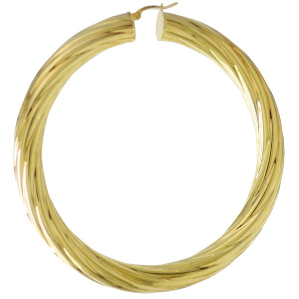 9ct Gold Large Creoles Earrings ER0446