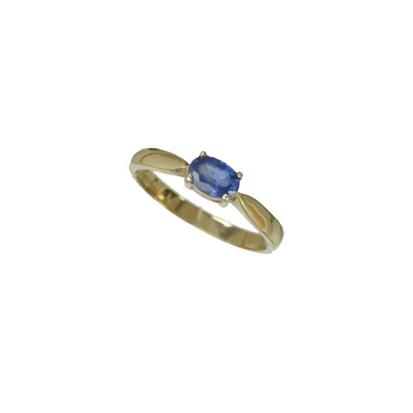 Solitaire Oval Sapphire Ring R0810