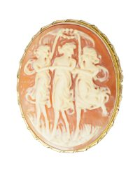 The Three Graces Cameo Brooch VJ002