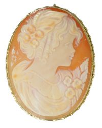 Shell Cameo Brooch Pin VJ003
