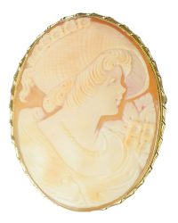 Shell Cameo Brooch Pin VJ004