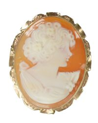 Shell Cameo Brooch Pin VJ005