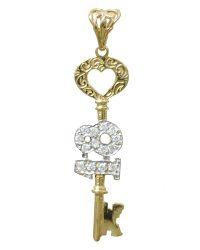 9ct Gold 18th key Birthday pd0452