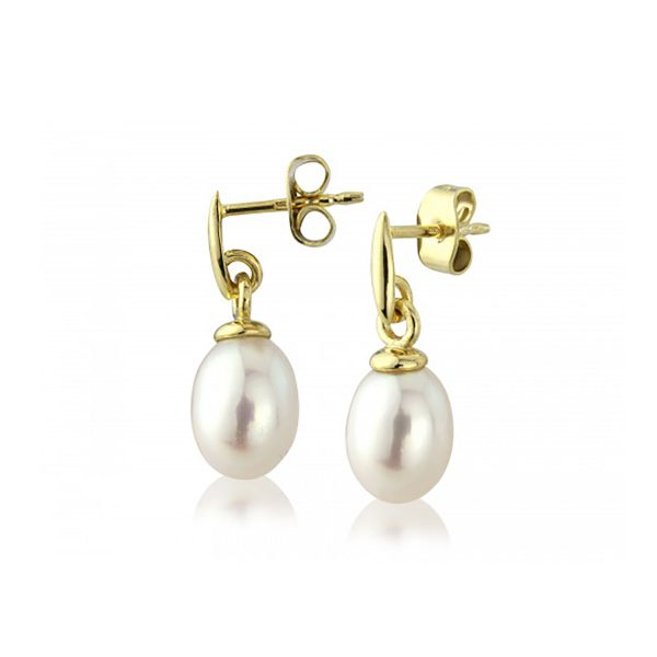 9ct-Yellow-Gold Pearl Earrings D119517CP