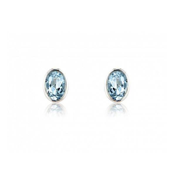 9ct-White-Gold Aquamarine Earrings